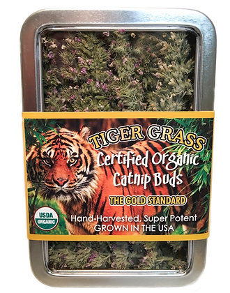 Tiger Grass Catnip Buds Large Tin