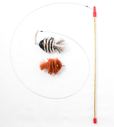 Da Fish 2 Pack with Super Rod Cat Toy Bundle