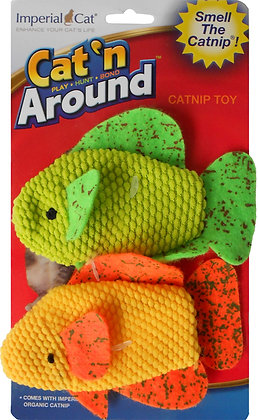 Cat 'n Around Neon Fish Duo Catnip Toy