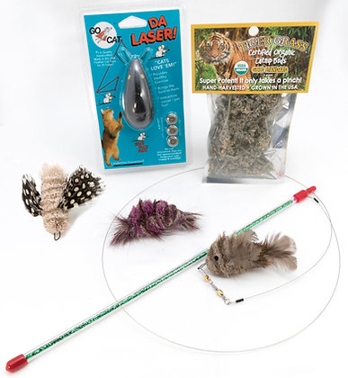 Go Cat Feather Fin Fish Toy Bundle