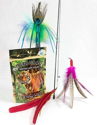 GO CAT Super Bird, Peacock Sparkling Tickler and More Bundle