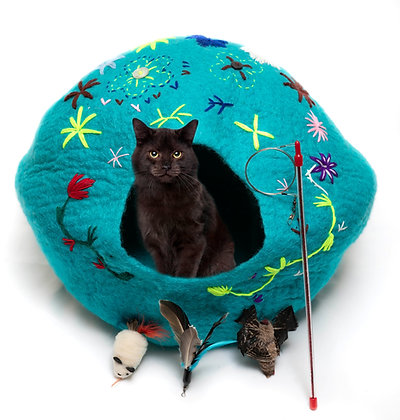 Sea Green Flower Cat Cave Pack!
