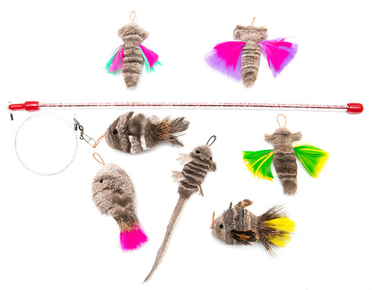 Lizzie - Natural Dragonfly - Feather Fin Fish Fun Pack!