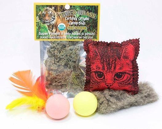 Go Cat Fun Pack with Tiger Grass Catnip Buds