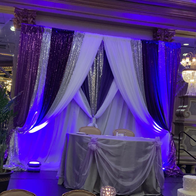 10ft triple panel backdrop multiple drapes