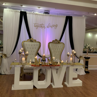 Any Throne chairs set and love table