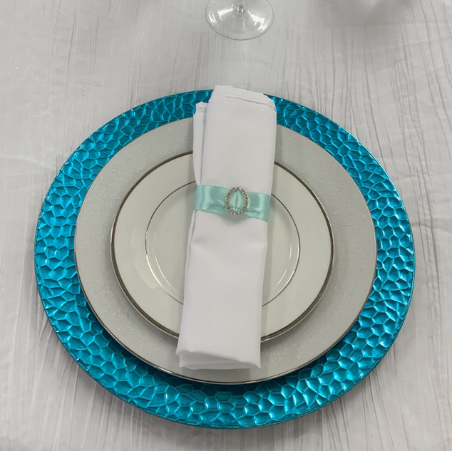 Turquoise chargers