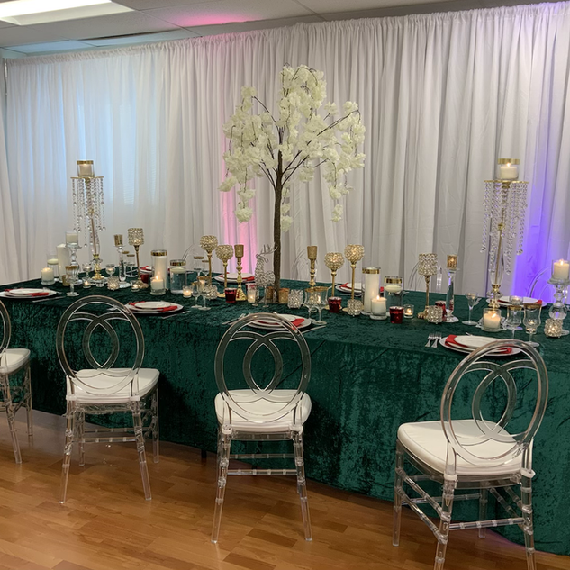 Cherry blossom use for ceremony and centerpiece