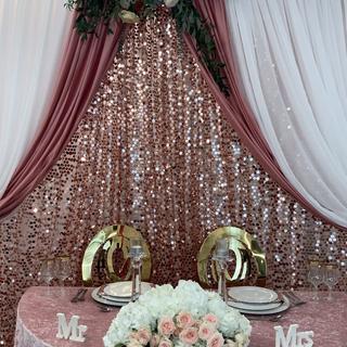 Large petals sequin backdrop double panel