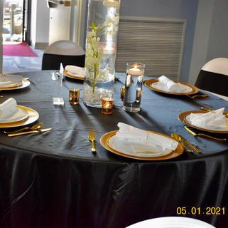 "Black Lamour tablecloth 132"""