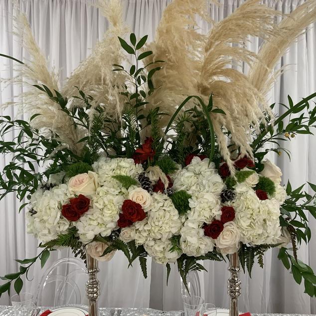Tall table floral arrangement