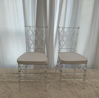 Crystal Chiavarri chair with cushions