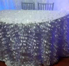 Leafy tablecloth