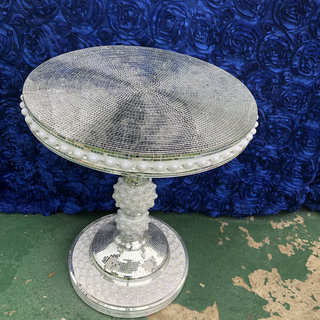 Pearl glass table use for cake, memorial or dining