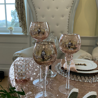 3 pieces set Rose gold candle holders