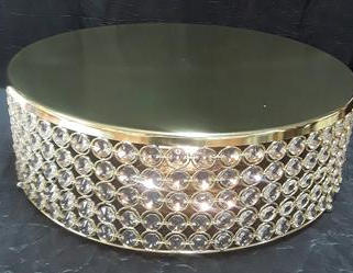 """18"""" Gold cake stand"""