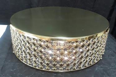 "18"" Gold cake stand"