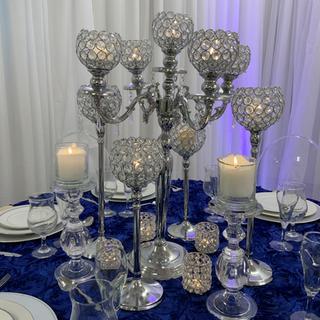 Silver candelabra