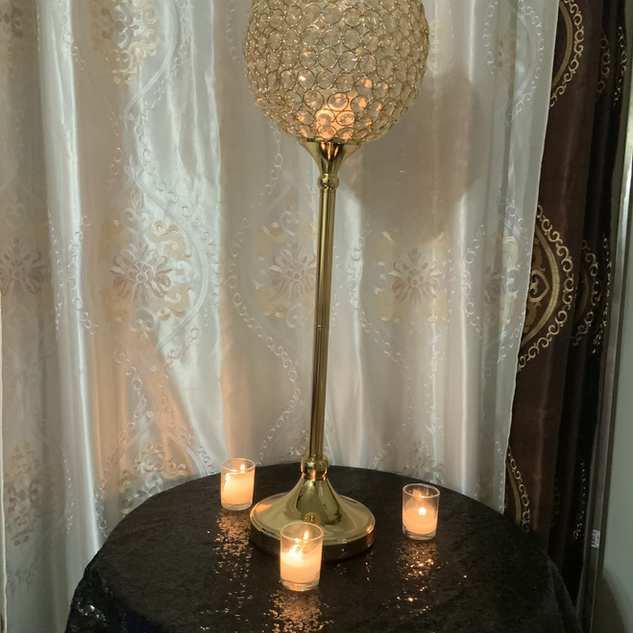 Gold crystal candle holder 4 available