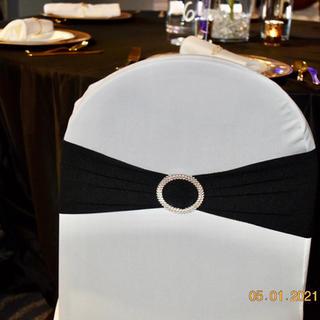 Black spandex chair sash