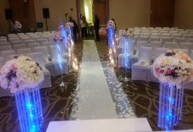 Small silk arrangement /chandelier stands