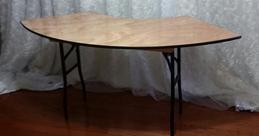 6ft Half moon table