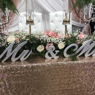 Mr & Mrs, Crystal candelabra