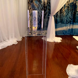 Acrylic columns. Two sets available. 3ft, 2ft and 1.1/2