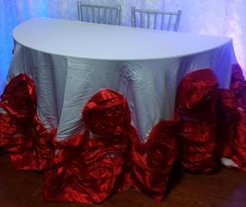 Large Rose tablecloth available in rose gold