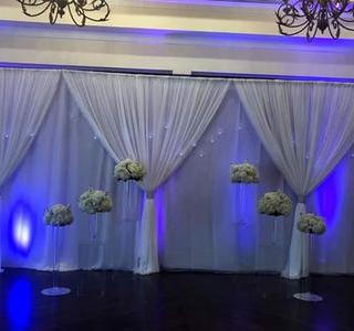Double panel drapes
