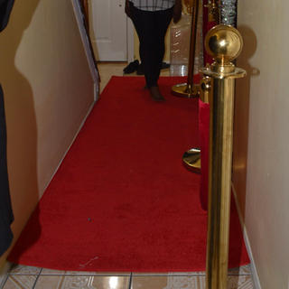 Red rope and Stanchion