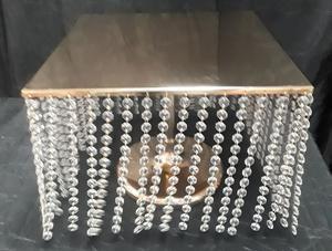 "16"" Gold crystal cake/cupcake stand"