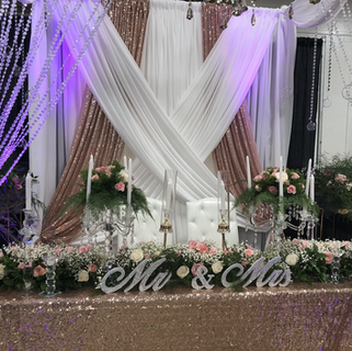 Tables scape and canopy backdrop