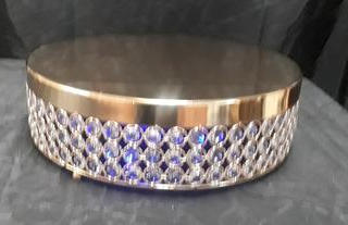 """13"""" Gold Crystal cake stand"""