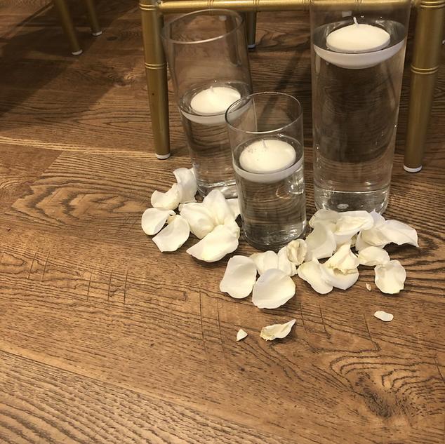 3 pieces set hurricane vases
