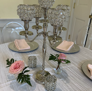 Silver candelabra 16 available