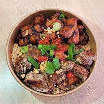 poké bowl soya boeuf