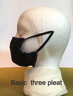 Basic three pleat side view