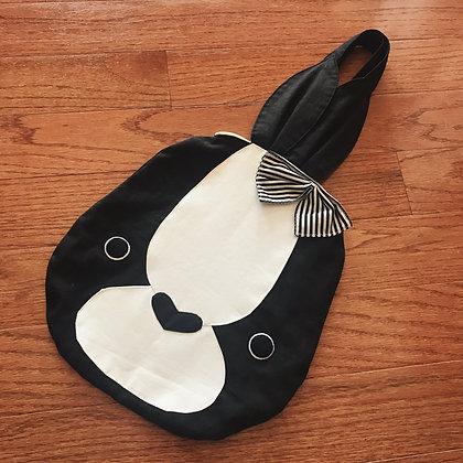 Off-brand Handmade - Bunny Handbag - Black x White