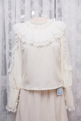 Diamond Honey - Victoria Princess Lace Blouse - Ivory