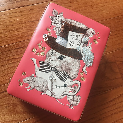 Artmi - Cat Tea Party Bag - Peach Pink
