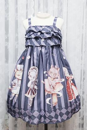 Diamond Honey - Alice's Cat JSK - Dark Purple