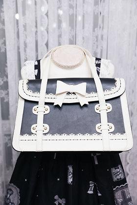 Ribbon Bag - Black x White