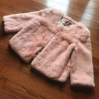 Off-brand - Faux Fur Coat - Peach Pink