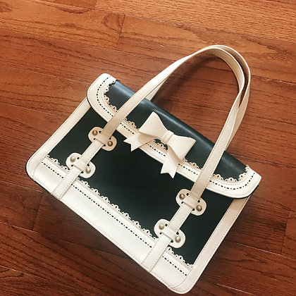 Off-brand (Replica) - Ribbon Bag - Black x White