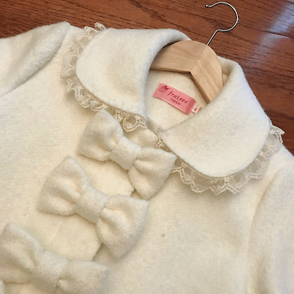 fraises (Replica) - Bows Coat - Ivory