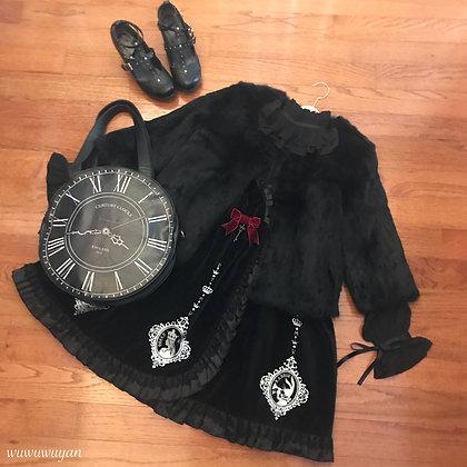 Off-brand - Faux Fur Coat - Black