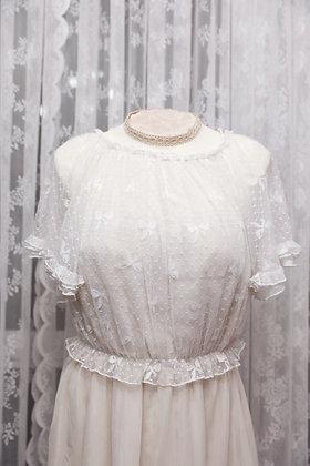 Crucis - Bow Lace Blouse - White