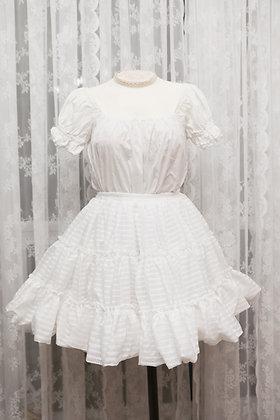 Ista Mori - Dreamy Plaid Fluffy Petticoat - White