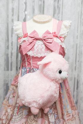 Alpaca Crossbody Bag - Pink